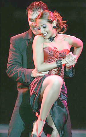 Colombian Carlos and Diana, winners of the World Tango Championships!