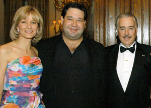 Colombian opera star Vareliano Lanchas with Ambassador Pastrana and his wife