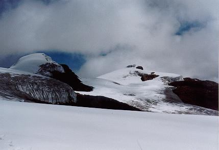 Magnificent snow capped mountain of Colombia